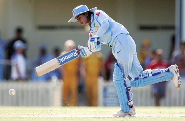 Mithali Raj of India plays a stroke during the ICC Women's World Cup 2009 3rd v 4th play off match between Australia and India at Bankstown Oval on March 21, 2009 in Sydney, Australia.  (Photo by Robert Gray/Getty Images) *** Local Caption *** Mithali Raj