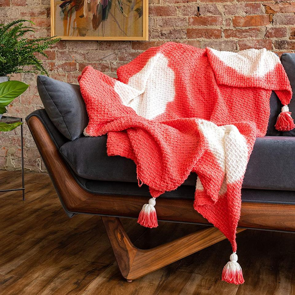 """<br><br><strong>Refinery29</strong> Arden Bedding Collection Premium Cotton Textured Throw, $, available at <a href=""""https://www.amazon.com/Refinery29-Bedding-Collection-Premium-Textured/dp/B0831DBZVR"""" rel=""""nofollow noopener"""" target=""""_blank"""" data-ylk=""""slk:Amazon"""" class=""""link rapid-noclick-resp"""">Amazon</a>"""