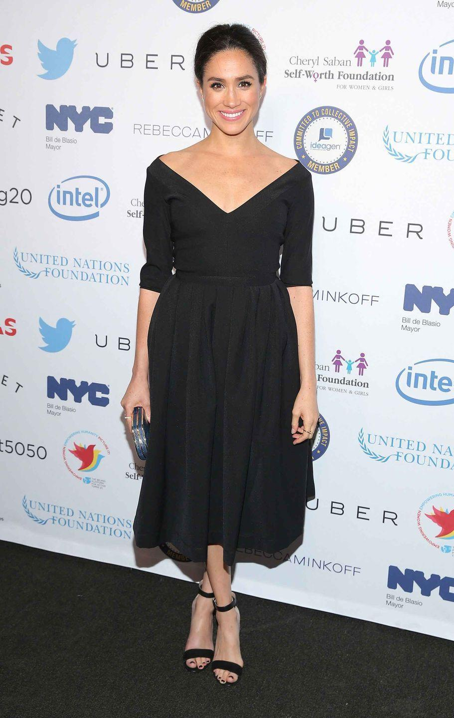 <p>Attending the Step It Up for Gender Equality event at the Hammerstein Ballroom in New York City.</p>