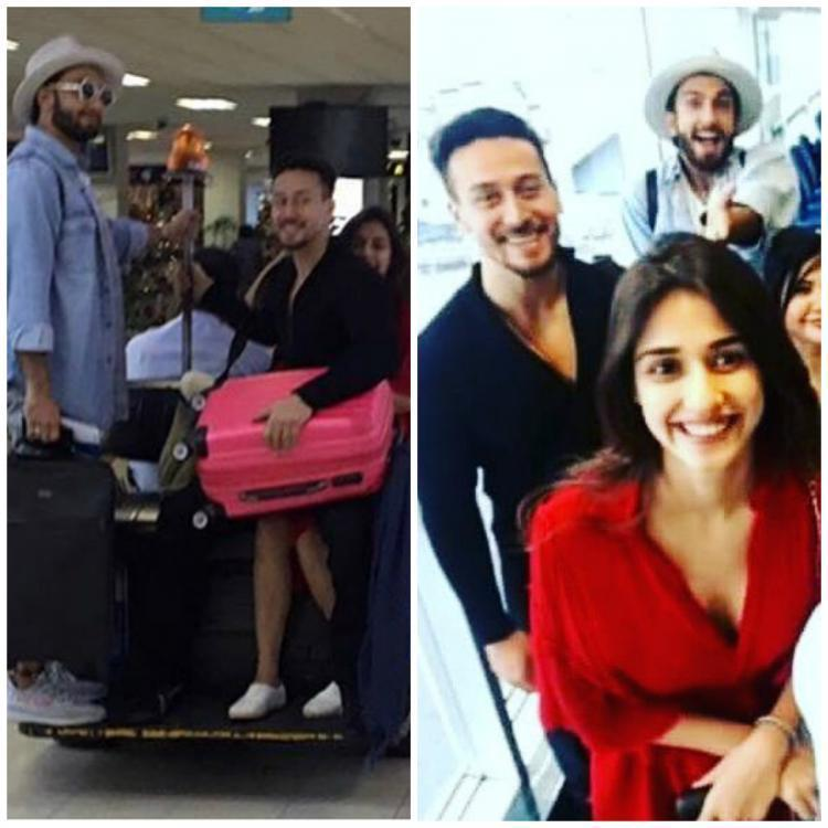 "<p>Now, we got our hands on a few pictures of the trio clicked at the Sri Lankan airport. In the picture, Ranveer, Tiger, and Disha were spotted having fun together as they busy chitchatting while being clicked. </p><p>Recommended Read:  <a rel=""nofollow"" href=""https://www.pinkvilla.com/entertainment/exclusives/exclusive-will-ajay-devgn-play-ranveer-singhs-mentor-rohit-shetty-and-karan-johar-s-simmba-394428#utm_source=yahoo&utm_medium=referral&utm_content=yahoomovies"">EXCLUSIVE - Will Ajay Devgn play Ranveer Singh's mentor in Rohit Shetty and Karan Johar's Simmba? </a></p><p>Interestingly, Tiger was seen sitting on Disha's lap while talking to Ranveer. And in the other picture, the trio posed for a selfie with airline crew. </p><p>How sweet! </p><p>Check out the pictures below and tell us about it in the comments section. <br /></p>"