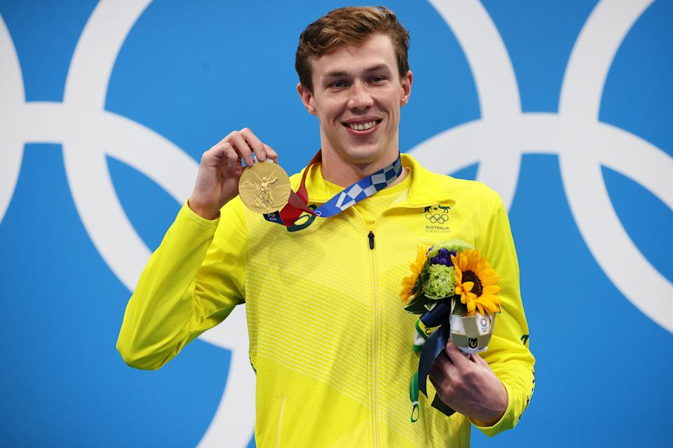 Pictured here, Zac Stubblety-Cook with his 200m breaststroke gold medal.