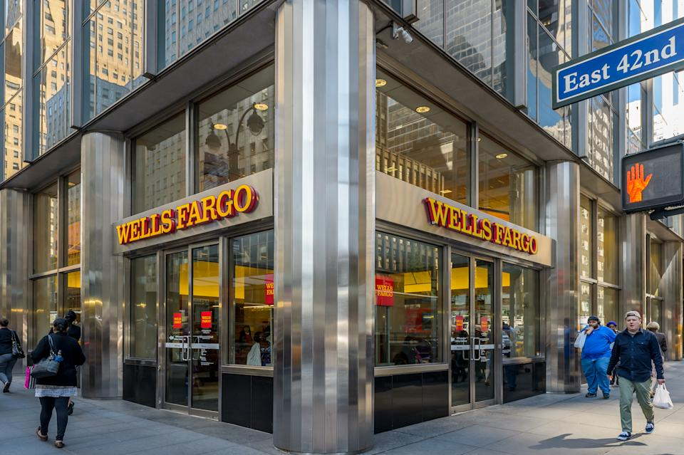 File Photo: Wells Fargo corporate headquarters in New York City. (Photo by Erik McGregor/Pacific Press/LightRocket via Getty Images)