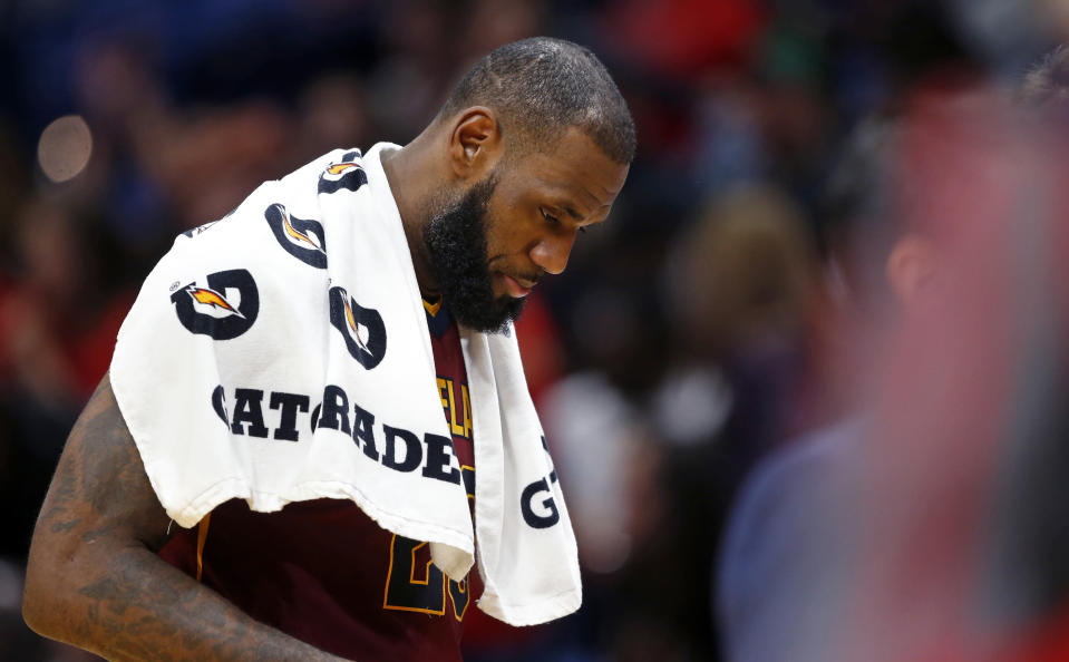 LeBron James and the Cavs have been a mess this season. (AP)
