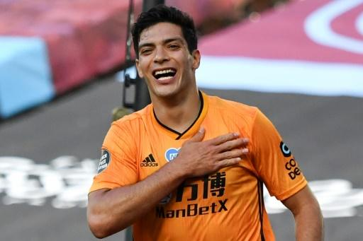 Raul Jimenez opened the scoring in Wolves' 2-0 win at West Ham