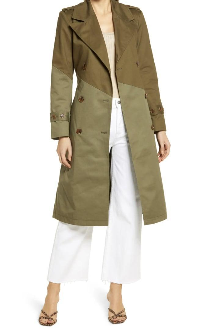 <p>The color contrast of this <span>Nordstrom Pieced Colorblock Trench Coat</span> ($139) makes it a step above the rest.</p>
