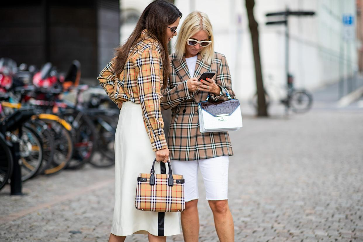 Street Style Burberry style in Oslo SS19 [Photo: Getty]