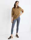 """Madewell isn't your traditional activewear brand, but it <a href=""""https://www.glamour.com/story/madewell-launches-athleisure-collection?mbid=synd_yahoo_rss"""" rel=""""nofollow noopener"""" target=""""_blank"""" data-ylk=""""slk:got into loungewear"""" class=""""link rapid-noclick-resp"""">got into loungewear</a> last year, and recently expanded that collection to include leggings. The result is this versatile pair you see before you. It's <a href=""""https://www.glamour.com/gallery/sustainable-activewear-brands?mbid=synd_yahoo_rss"""" rel=""""nofollow noopener"""" target=""""_blank"""" data-ylk=""""slk:responsibly made"""" class=""""link rapid-noclick-resp"""">responsibly made</a> from recycled nylon and spandex, with flat seams and plenty of stretch. It comes in sizes XXS through XXL, and wears opaque and compressive, rather than sheer or suffocating. $65, Madewell. <a href=""""https://www.madewell.com/mwl-form-high-rise-7%2F8-leggings-MC196.html?"""" rel=""""nofollow noopener"""" target=""""_blank"""" data-ylk=""""slk:Get it now!"""" class=""""link rapid-noclick-resp"""">Get it now!</a>"""