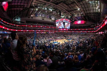 Mar 18, 2019; Dallas, TX, USA; A view of the arena during the game between the Dallas Mavericks and the New Orleans Pelicans at the American Airlines Center. Mandatory Credit: Jerome Miron-USA TODAY Sports