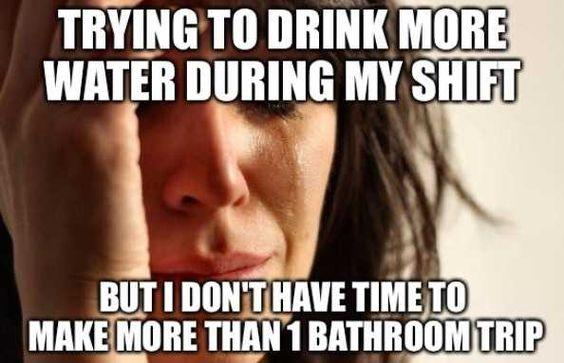 need to pee while working