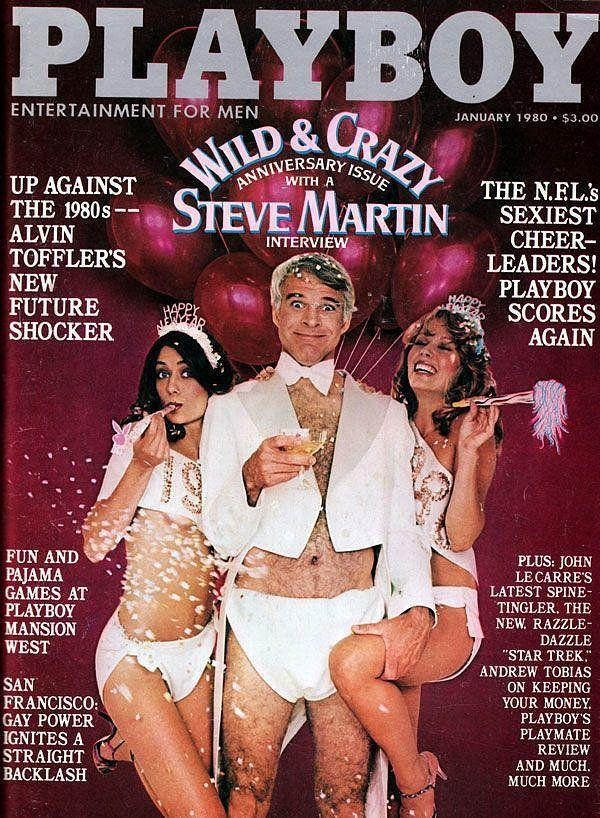 <p><strong>Issue: </strong>January 1980</p><p>Yes, men can post for <em>Playboy</em> too—as comedian Steve Martin proved in 1980. </p>