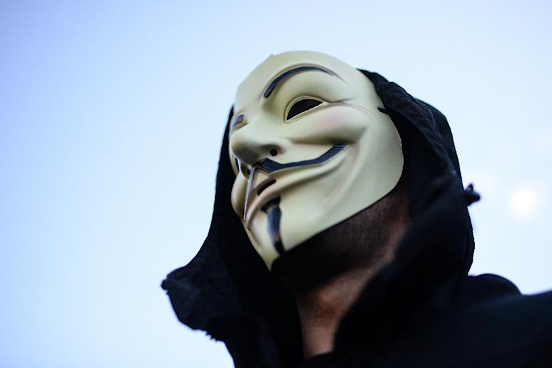 The Anonymous hackers collective has adopted the Guy Fawkes mask as its symbol