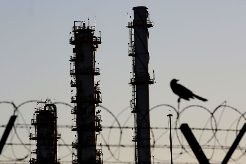 FILE PHOTO: Pipes are pictured at Mexico state oil firm Pemex's Cadereyta refinery in Cadereyta