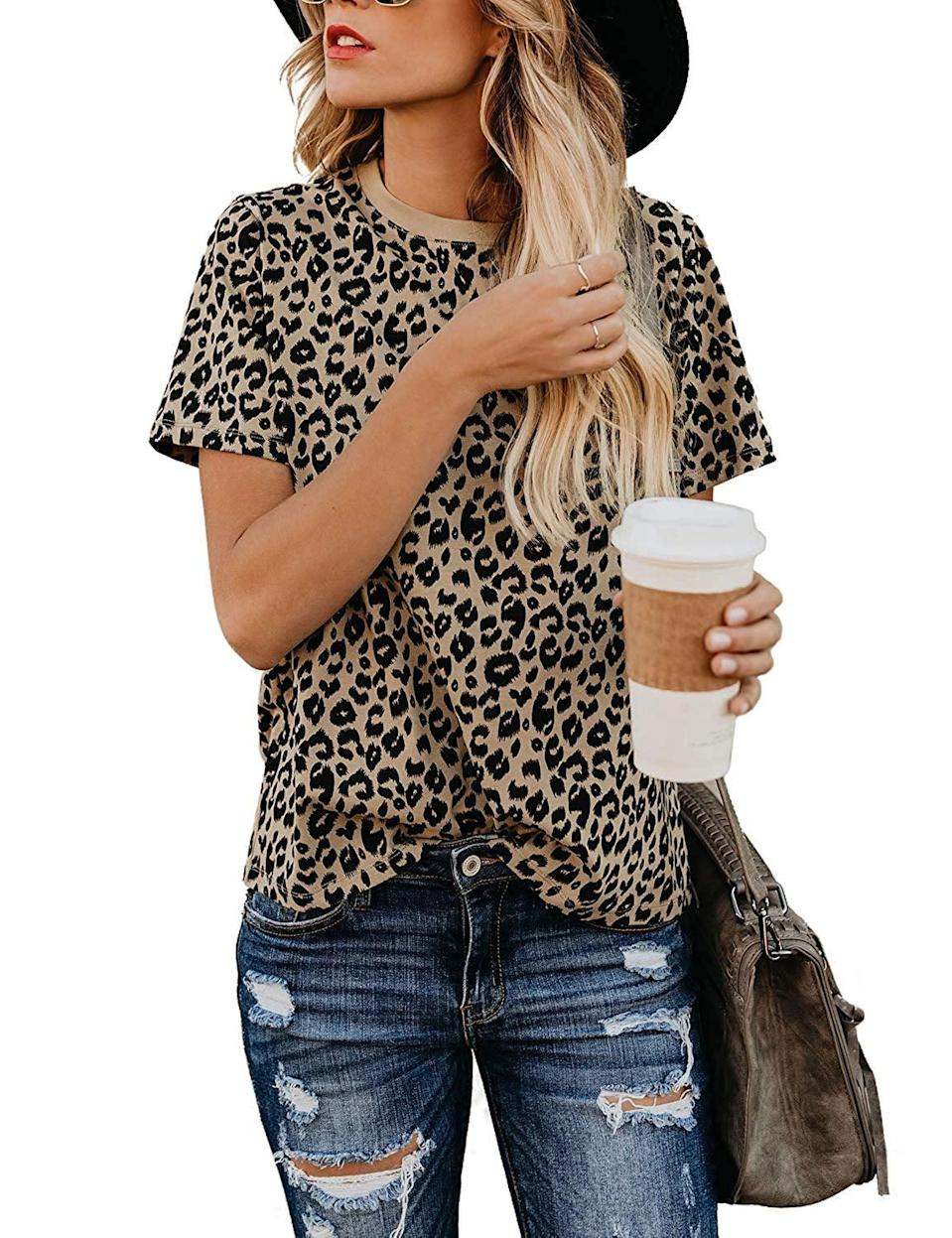 <p>For casual days, throw on this <span>BMJL Leopard Short-Sleeved Shirt</span> ($17).</p>