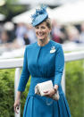 <p>Sophie Countess of Wessex looked lovely in this azure blue number at Ascot 2013. <em>[Photo: Getty]</em> </p>