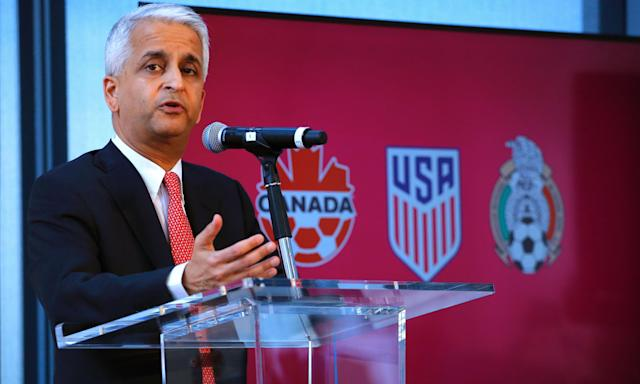 Is Sunil Gulati on the hot seat? Not according to Sunil Gulati. (Getty)