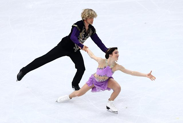 SOCHI, RUSSIA - FEBRUARY 17: Meryl Davis and Charlie White of the United States compete in the Figure Skating Ice Dance Free Dance on Day 10 of the Sochi 2014 Winter Olympics at Iceberg Skating Palace on February 17, 2014 in Sochi, Russia. (Photo by Clive Mason/Getty Images)