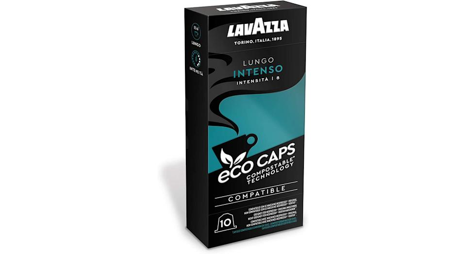 Lavazza 100 Eco Caps Coffee Pods compatible with Nespresso
