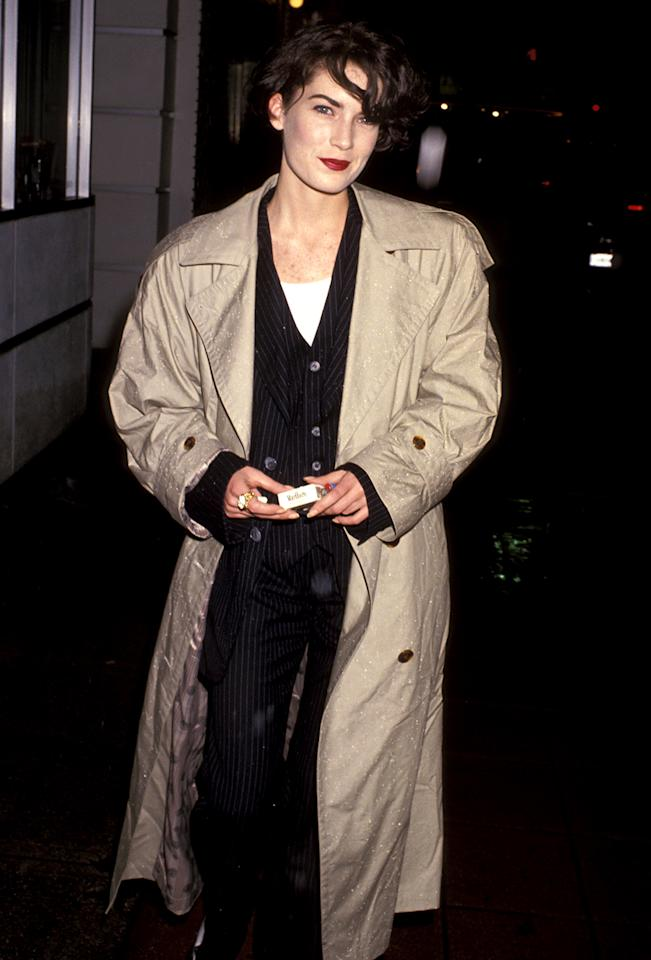 <p>The 'Twin Peaks' favorite played Wayne's ex-girlfriend in the comedy. She attended the Los Angeles premiere on Feb. 6, 1992. (Photo: Jim Smeal/WireImage) </p>