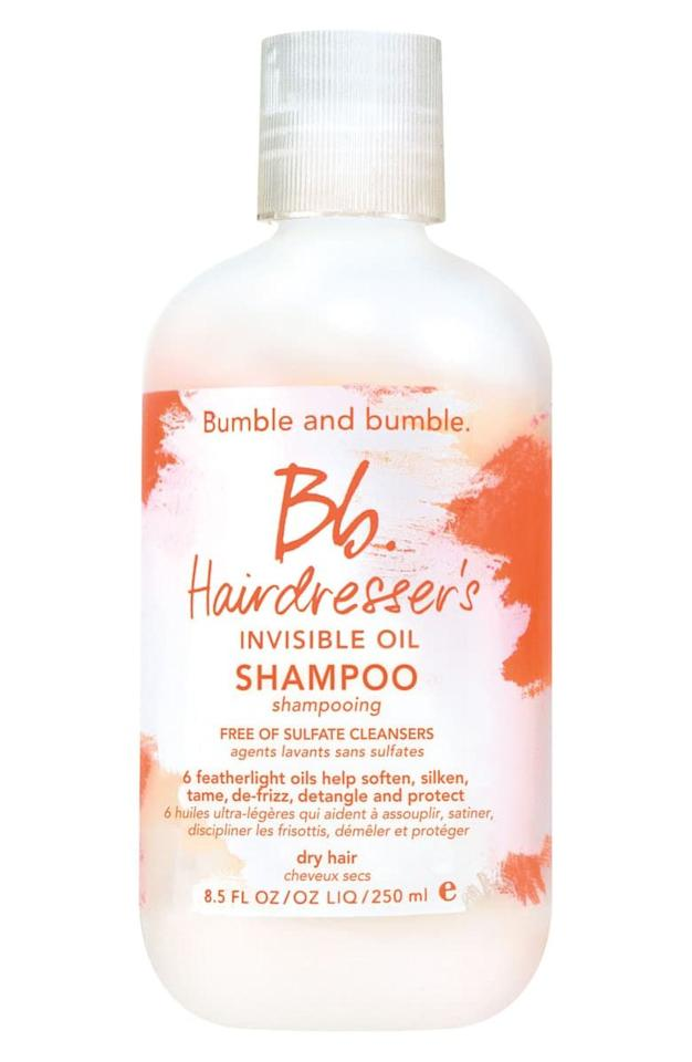 """<p><strong>Bumble and bumble</strong></p><p>sephora.com</p><p><strong>$12.00</strong></p><p><a href=""""https://go.redirectingat.com?id=74968X1596630&url=https%3A%2F%2Fwww.sephora.com%2Fproduct%2Fhairdresser-s-invisible-oil-shampoo-P386463&sref=http%3A%2F%2Fwww.harpersbazaar.com%2Fbeauty%2Fhair%2Fg29657328%2Fbest-shampoo-for-dry-hair%2F"""" target=""""_blank"""">Shop Now</a></p><p>The lather-less wash takes getting used to, but it pays off in spades with smoother, softer strands.</p>"""