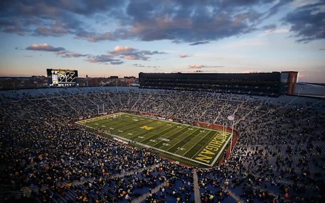 ANN ARBOR, MI – APRIL 01: General view of Michigan Stadium during the Michigan Football Spring Game on April 1, 2016 at Michigan Stadium in Ann Arbor, Michigan. (Photo by Gregory Shamus/Getty Images)