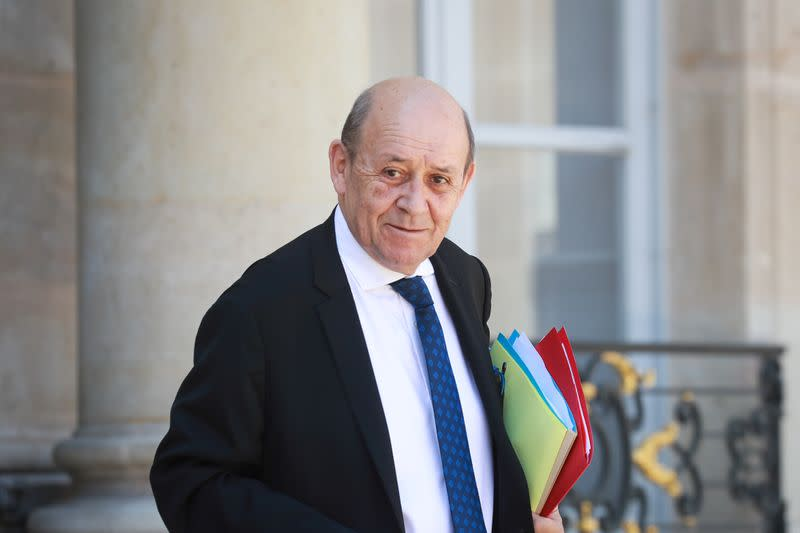 Violence against protesters, press unacceptable, says France's Le Drian