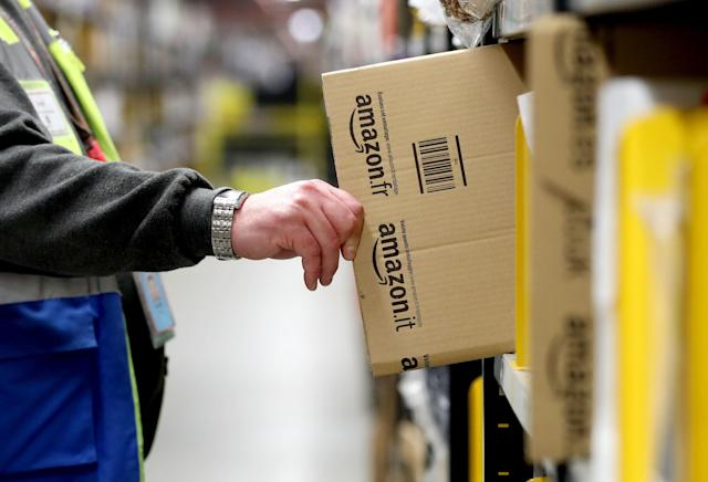 Amazon's largest hi-tech warehouse in Dunfermline, Fife. Photo: Jane Barlow/PA Images via Getty Images