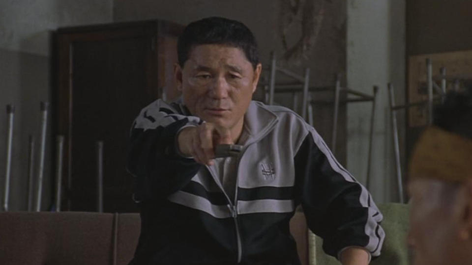 Takeshi Kitano in 'Battle Royale'. (Credit: Toei Company)