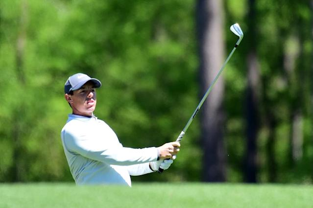 Rory McIlroy of Northern Ireland plays a shot on the 12th hole during the second round of the 2017 Masters Tournament at Augusta National Golf Club on April 7, 2017 (AFP Photo/Harry How)