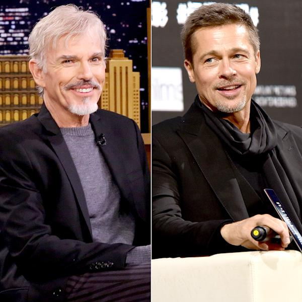 Billy Bob Thornton told Playboy in a new interview that he wants to work with his ex-wife Angelina Jolie's estranged husband Brad Pitt — more here