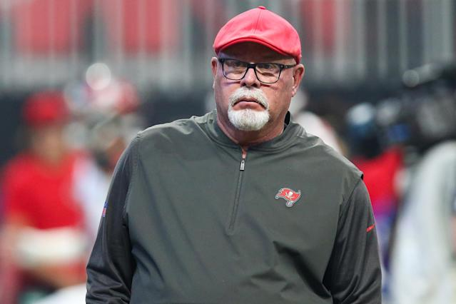 Tampa Bay Buccaneers head coach Bruce Arians has an opportunity to solidify his football legacy with Tom Brady at the helm. (Photo by Carmen Mandato/Getty Images)