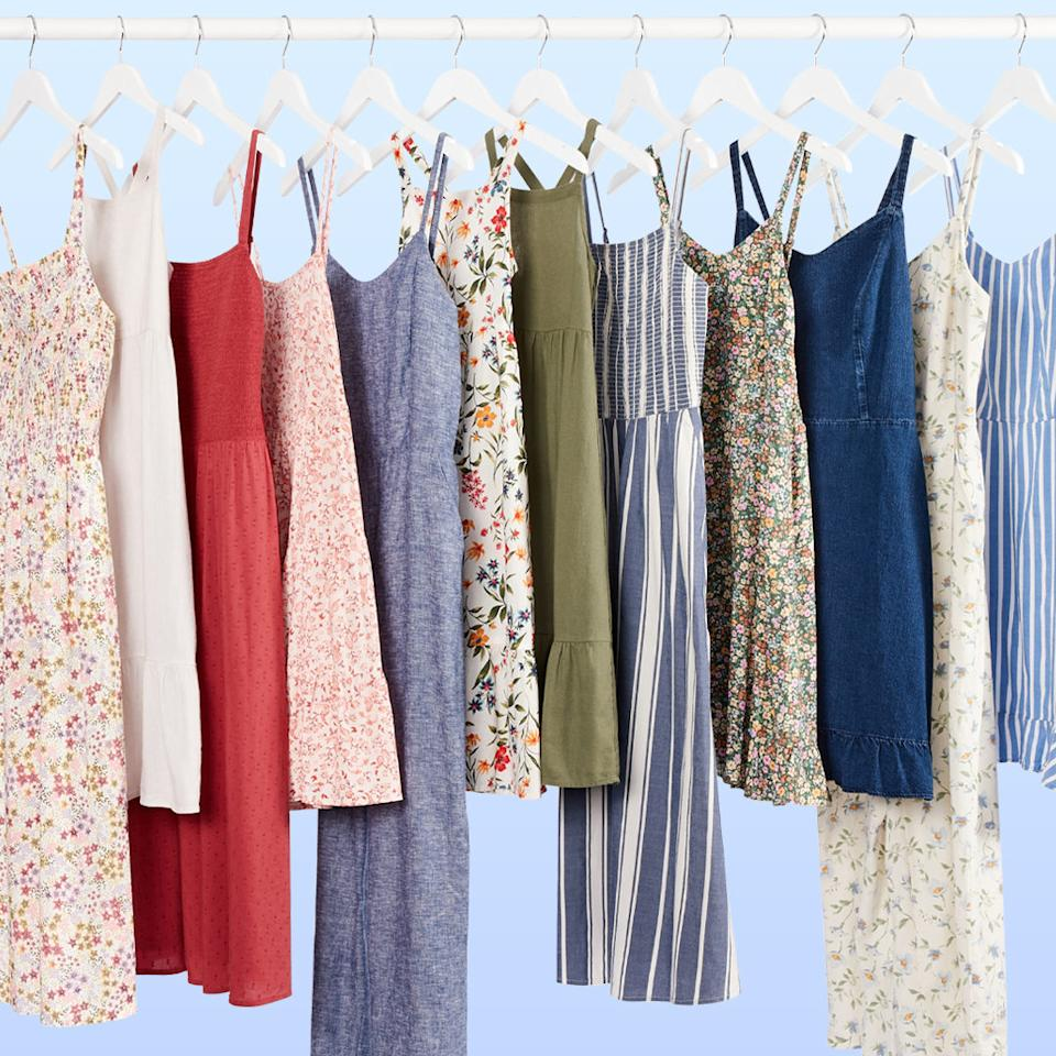 Shop dresses starting at just $22 as part of Old Navy's latest sale. Image via Instagram/OldNavy.