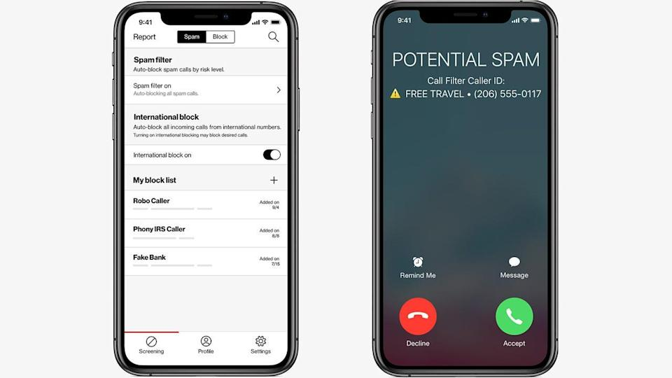 Verizon's Call Filter helps customers know whether an imcoming call is spam or legitimate.