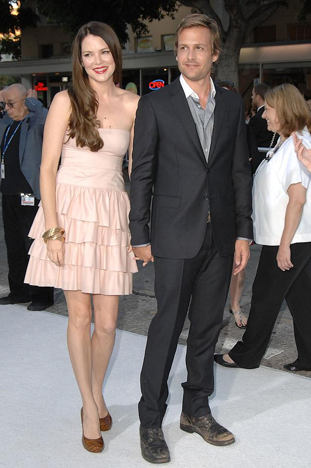 """<a href=""""http://movies.yahoo.com/movie/contributor/1800317004"""">Jacinda Barrett</a> and <a href=""""http://movies.yahoo.com/movie/contributor/1800405800"""">Gabriel Macht</a> at the Los Angeles premiere of <a href=""""http://movies.yahoo.com/movie/1809839458/info"""">Whiteout</a> - 09/09/2009"""