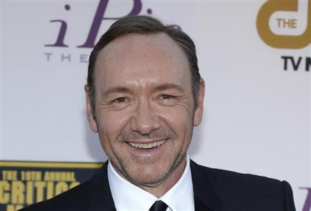 Actor Kevin Spacey arrives at the 19th annual Critics' Choice Movie Awards in Santa Monica