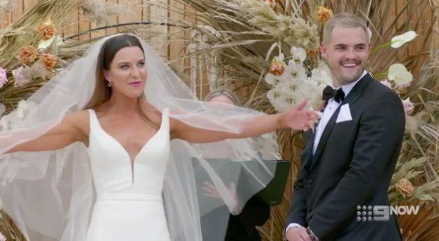 Sam and Coco's wedding on 'Married At First Sight' (Photo: Channel 9)