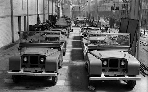 Land Rover Series 1 production line