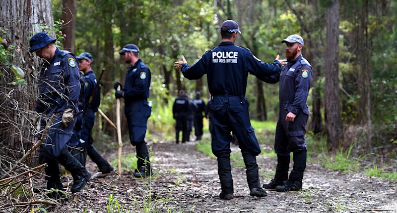 NSW Police search for evidence of missing boy William Tyrrell near Bonny Hills on the NSW mid-north coast on Wednesday, March 4, 2015.