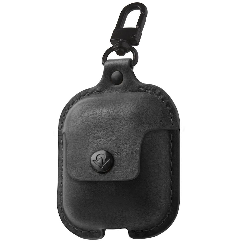 """<p><strong>Twelve South</strong></p><p>amazon.com</p><p><strong>$25.32</strong></p><p><a href=""""https://www.amazon.com/Twelve-South-AirSnap-AirPods-Leathercase/dp/B07CJRCW9L?tag=syn-yahoo-20&ascsubtag=%5Bartid%7C10054.g.30645451%5Bsrc%7Cyahoo-us"""" rel=""""nofollow noopener"""" target=""""_blank"""" data-ylk=""""slk:Buy"""" class=""""link rapid-noclick-resp"""">Buy</a></p><p>Keep your treasured tech safe. And if you get cases in different colors (there are eight available), keep your treasured tech from getting mixed up with your partner's.</p>"""