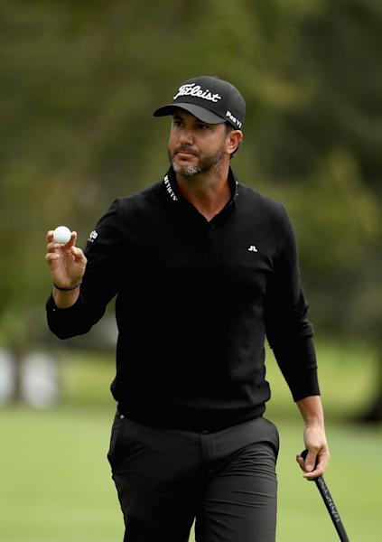 Scott Piercy of the US reacts to his putt on the third hole during third round of the Safeway Open, at the North Course of Silverado Resort and Spa in Napa, California, on October 15, 2016 (AFP Photo/Ezra Shaw)