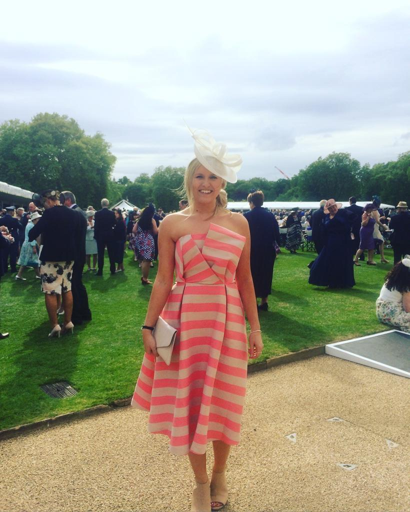 Charlotte Neal attended the garden party in 2017. (Charlotte Neal)