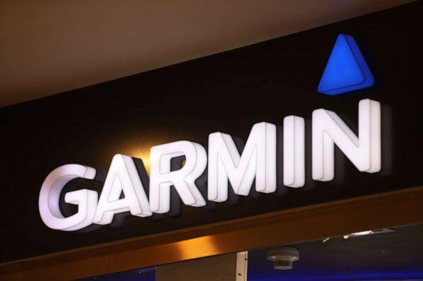PHOTO: The Garmin logo is seen at Galeria Shopping and Entertainment Centre. (SOPA Images/LightRocket via Getty)