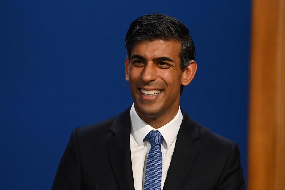 Chancellor of the Exchequer Rishi Sunak, during a media briefing in Downing Street, London, on the long-awaited plan to fix the broken social care system. Picture date: Tuesday September 7, 2021.