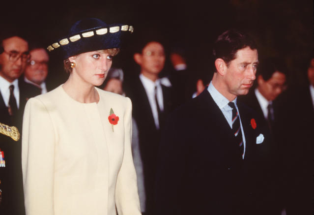 Princess Diana and Prince Charles on their last trip together as a married couple, in South Korea, November 1992, which saw them labelled 'The Glums' by the press. [Photo: Getty]