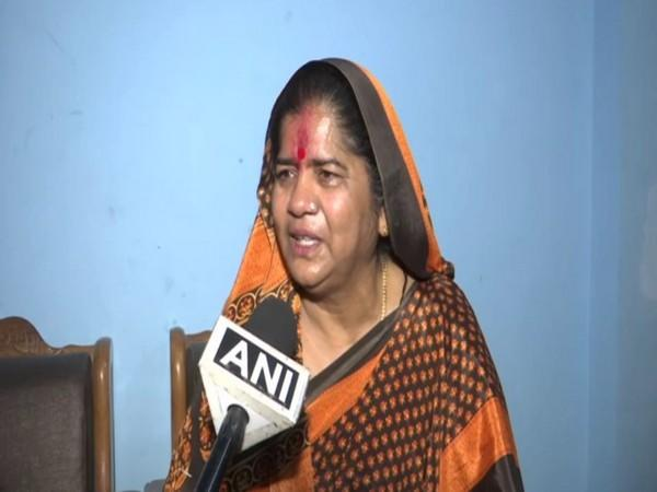 BJP leader Imarti Devi speaking to ANI in Bhopal on Sunday. [Photo/ANI]