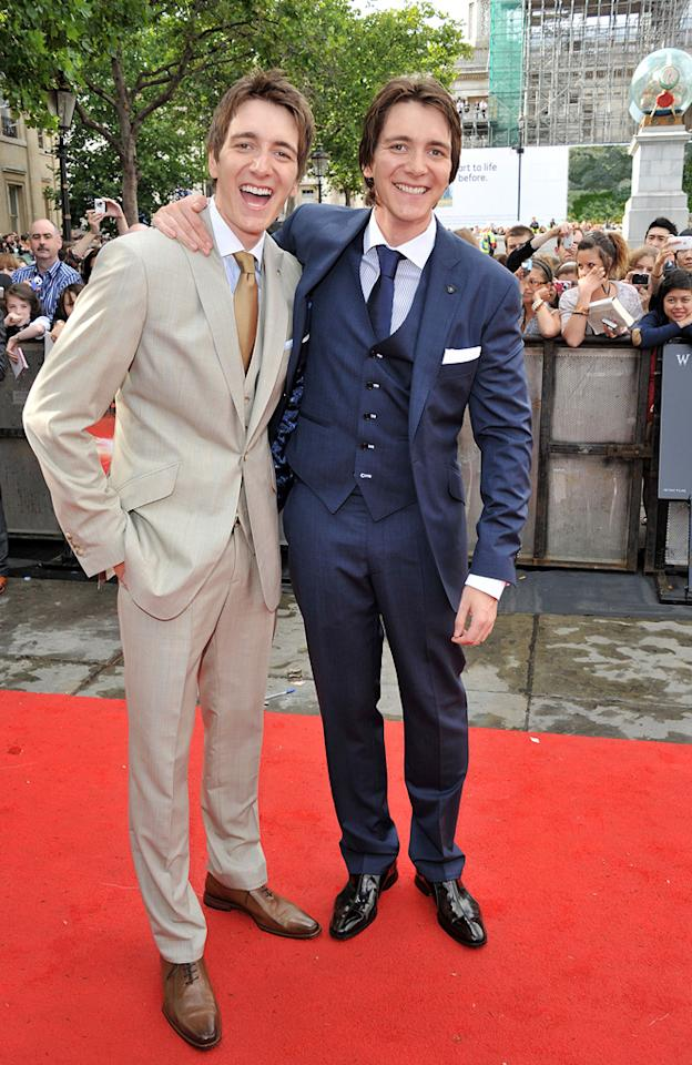 "<a href=""http://movies.yahoo.com/movie/contributor/1807635763"">Oliver Phelps</a> and <a href=""http://movies.yahoo.com/movie/contributor/1807635762"">James Phelps</a> at the London world premiere of <a href=""http://movies.yahoo.com/movie/1810004624/info"">Harry Potter and the Deathly Hallows - Part 2</a> on July 7, 2011."