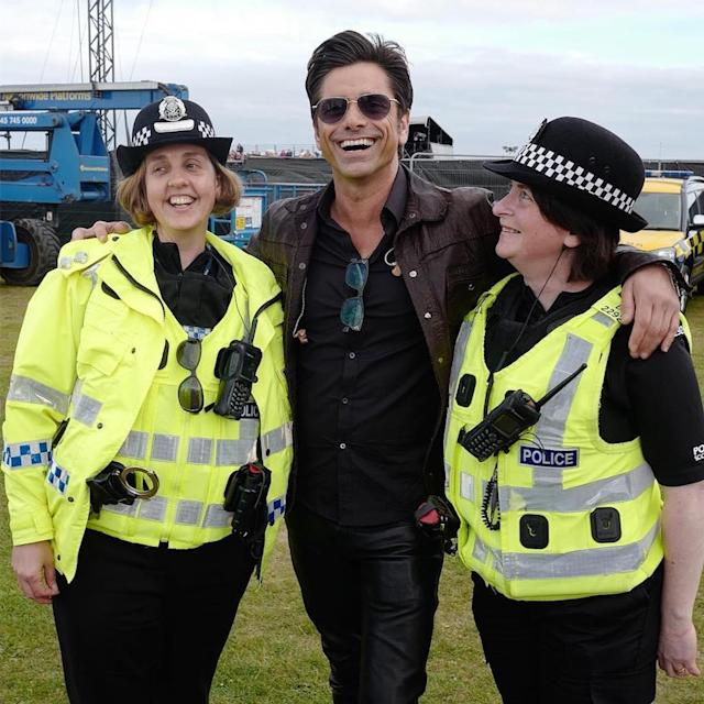 "<p>It's no surprise that the handsome actor made a few new female friends over in Scotland. ""Feeling safe and happy with Scotlands finest,"" smiled Stamos. (Photo: <a href=""https://www.instagram.com/p/BUscKmuAKO9/?taken-by=johnstamos&hl=en"" rel=""nofollow noopener"" target=""_blank"" data-ylk=""slk:John Stamos via Instagram"" class=""link rapid-noclick-resp"">John Stamos via Instagram</a>) </p>"