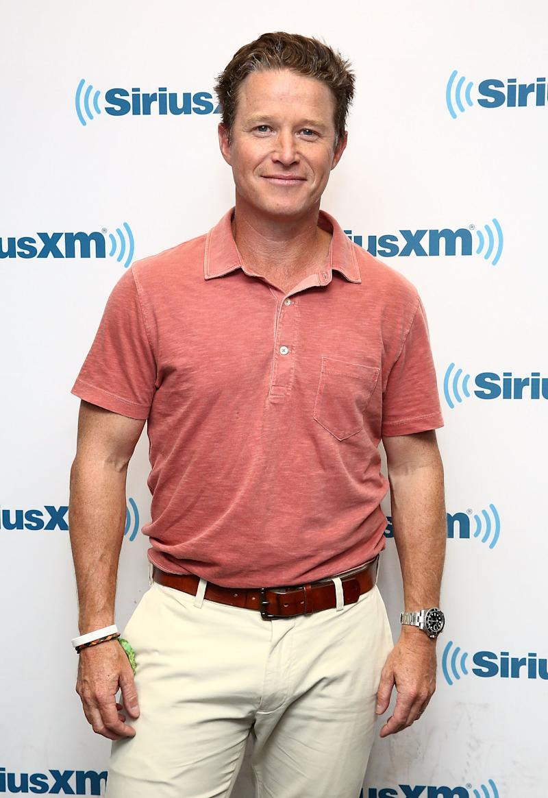 "NEW YORK, NY - AUGUST 22: (EXCLUSIVE COVERAGE) TV personality and NBC's ""Today"" show co-anchor, Billy Bush visits the SiriusXM Studios on August 22, 2016 in New York City. (Photo by Astrid Stawiarz/Getty Images)"