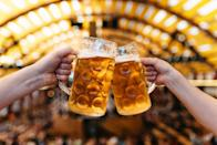 <p>You might not make it all the way to Munich, but you can still celebrate the traditional German fall festival by visiting a local beer garden and enjoying some brats during two weeks in late September and early October.</p>