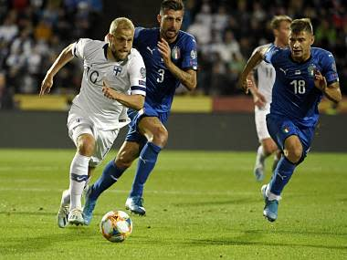 Euro 2020 qualifiers: Jorginho converts second-half penalty to help Italy beat Finland in Group J match