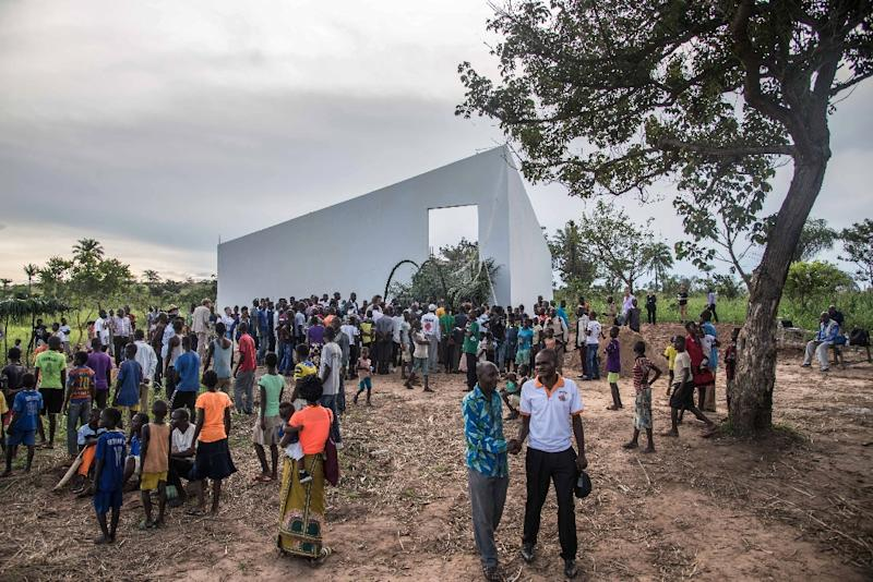 "The ""White Cube"" gallery in DR Congo aims to promote local art and crafts in a former Unilever palm oil plantation town (AFP Photo/Junior D. KANNAH)"
